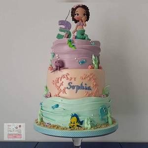 Anniversary Cake - Mermaid Cake - Cake by Unique Cake's Boutique