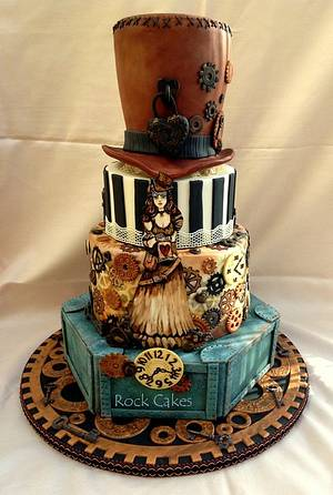 Steampunk Wedding Cake - Cake by RockCakes