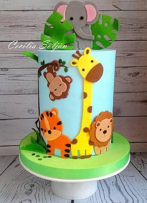 Torta Animalitos de la selva - Cake by Cecilia Solján