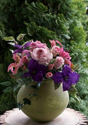 A bouquet of summer flowers  - Cake by Katarzynka