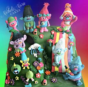 Dreamworks Trolls Cake - Cake by Jen Savaris