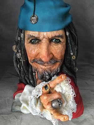 Captain Edward Teague/Keith Richards CPC Pirates of the Caribbean Collaboration  - Cake by Nightwitch