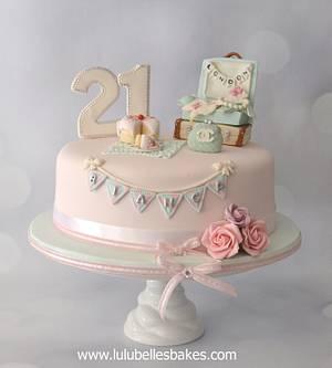 21st Travel themed birthday cake - Cake by Lulubelle's Bakes