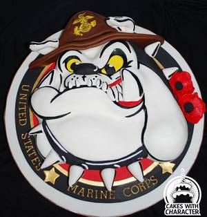 United States marine Corp mascot - Cake by Jean A. Schapowal