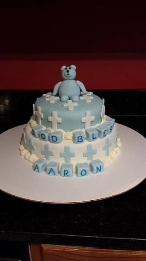 christening cake - Cake by Amber Rhofiry