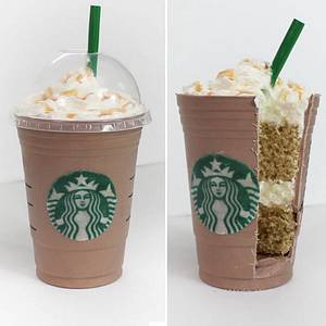 Starbucks Grande Frappuccino Cake - Cake by Otchcakes