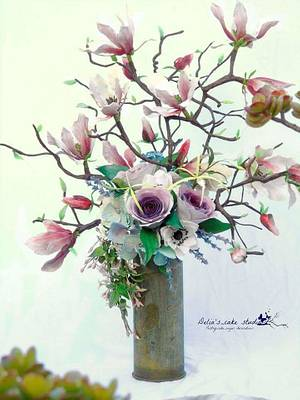 World Cancer Day Sugar flowers and cakes in bloom collaboration - Cake by Delia's_cake studio