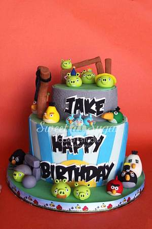 Angry Birds - Cake by SweetAsSugar