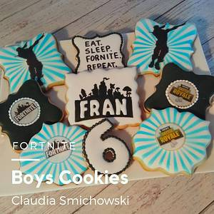 Fornite Cookies - Cake by Claudia Smichowski