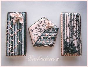 Glittered stencil cookies - Cake by Evelindecora