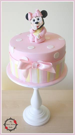 Little Minnie Baby Shower - Cake by My Sweet Dream Cakes