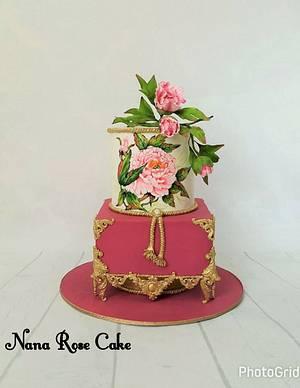 Handpaintied Antique Cake  - Cake by Nana Rose Cake