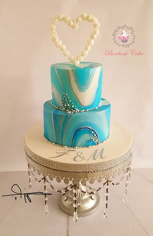 Blue marble - Cake by mona ghobara/Bonboni Cake