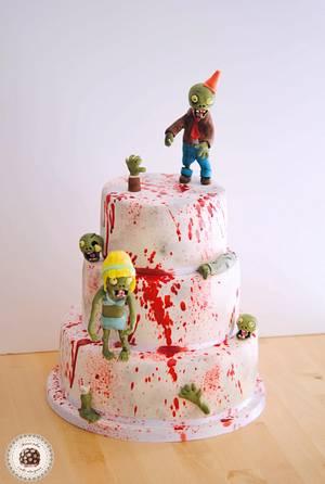 Zombie blood birthday cake by Mericakes - Cake by Mericakes
