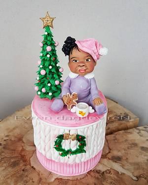 Chocolate milk girl  - Cake by Evren Dagdeviren