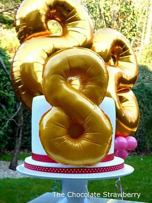 Helium balloon cake - Cake by Sarah Jones