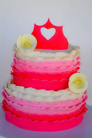 My First Ruffled Cake - Cake by Sweet Creations by Sophie