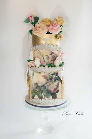 """Fleurs Enchadrees"" - Cake by Sugar Cakes"