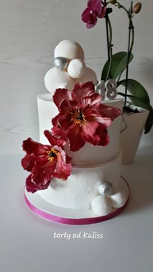 B-day for a girl - Cake by Kaliss