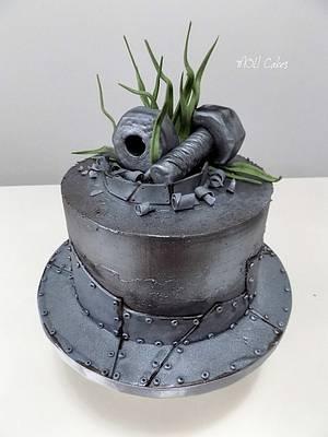Iron cake  - Cake by MOLI Cakes