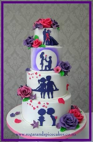 A Love Story - Cake by Mel_SugarandSpiceCakes