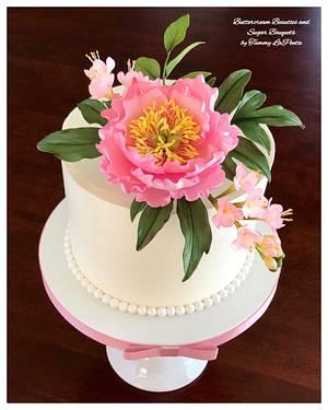 ~ Blooming Peony Celebration Cake ~ - Cake by Tammy LaPenta