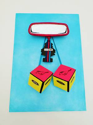 Rev Heads - Ford Mustang's 50th birthday collaboration - Pop Art - Cake by Kickshaw Cakes