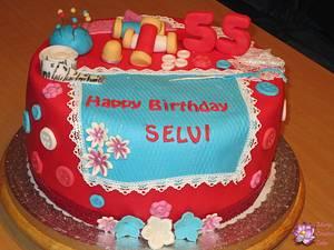 Sewing themed cake - Cake by Mary Yogeswaran