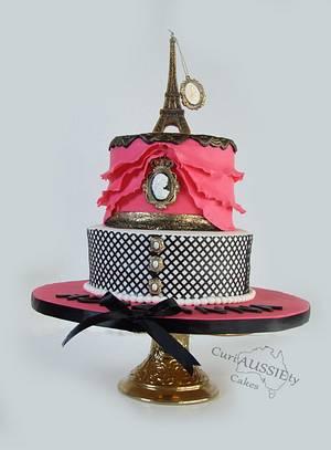 "Sweet 16 ""Paris"" cake - Cake by CuriAUSSIEty  Cakes"