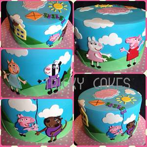Peppa pig - Cake by Trickycakes