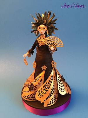 Carnival Cakers Collaboration - Carnival Costume  - Cake by sugar voyager