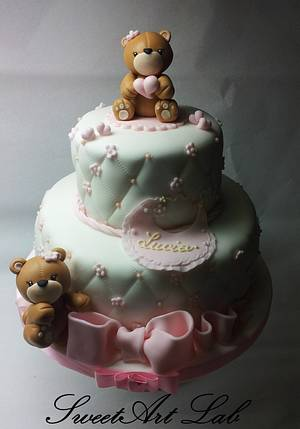 Christening cake - Cake by  Michela Barocci - Sugar Artist