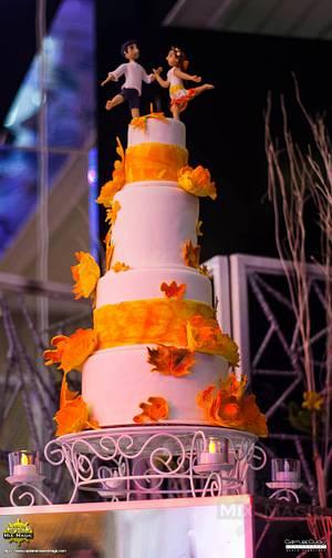 Autumn Sunset - Cake by Joy Lyn Sy Parohinog-Francisco