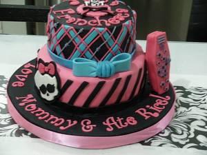 Monster High inspired cake - Cake by Francesca's Smiles