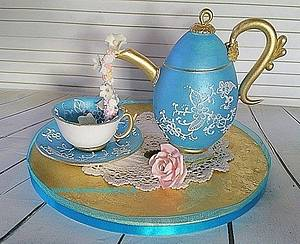 Teapot, Cup and Saucer - Cake by Sweet Creations