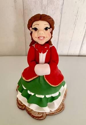 Christmas lady - Cake by laskova