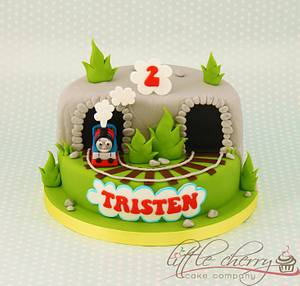Thomas The Tank Engine Cake - Cake by Little Cherry