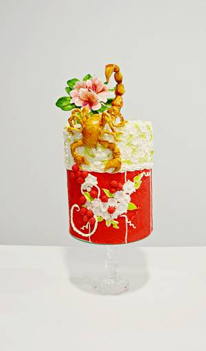 Zodiac Challange Bakerswood - Scorpion - Cake by Catalina Anghel azúcar'arte