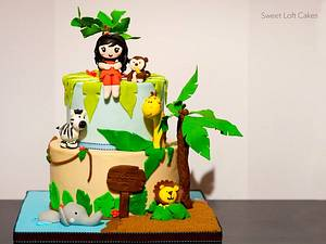 Jungle Theme Baby Shower Cake - Cake by Heidi