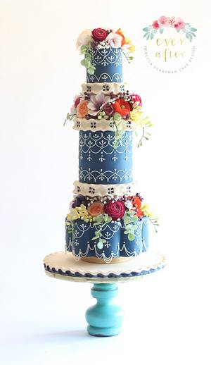 Moroccan Floral Cake - Cake by Ever After