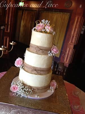 Messy ganache wedding cake - Cake by Kelli Maree