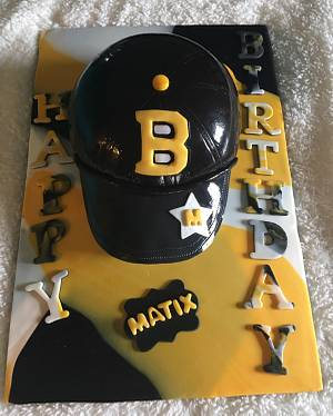 Boston Bruin birthday cake  - Cake by For Heaven's Cakes by Julie