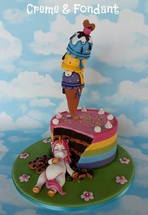 Fat unicorn cake - Cake by Creme & Fondant