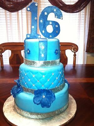 Denim and Diamonds Sweet 16 - Cake by mommyspice3