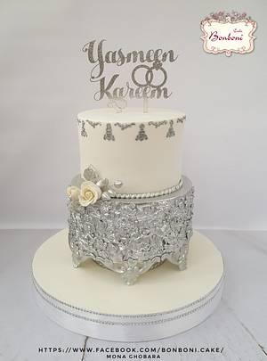 Fabric silver - Cake by mona ghobara/Bonboni Cake