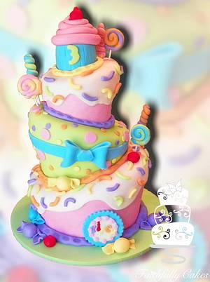 Sweet Shoppe 3rd Birthday - Cake by FaithfullyCakes