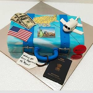Travelling is fun - Cake by Urvi Zaveri