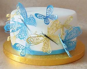 Wafer paper butterfly cake - Cake by Lelly