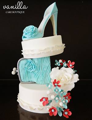 Spring shoe - Cake by Vanilla cake boutique