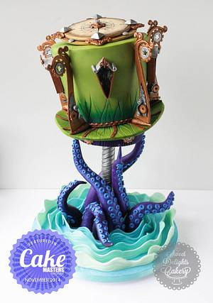 Steampunk Lighthouse  - Cake by Sweet Delights Cakery